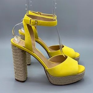 Gibson Latimer Yellow Luciana Platform Espadrilles